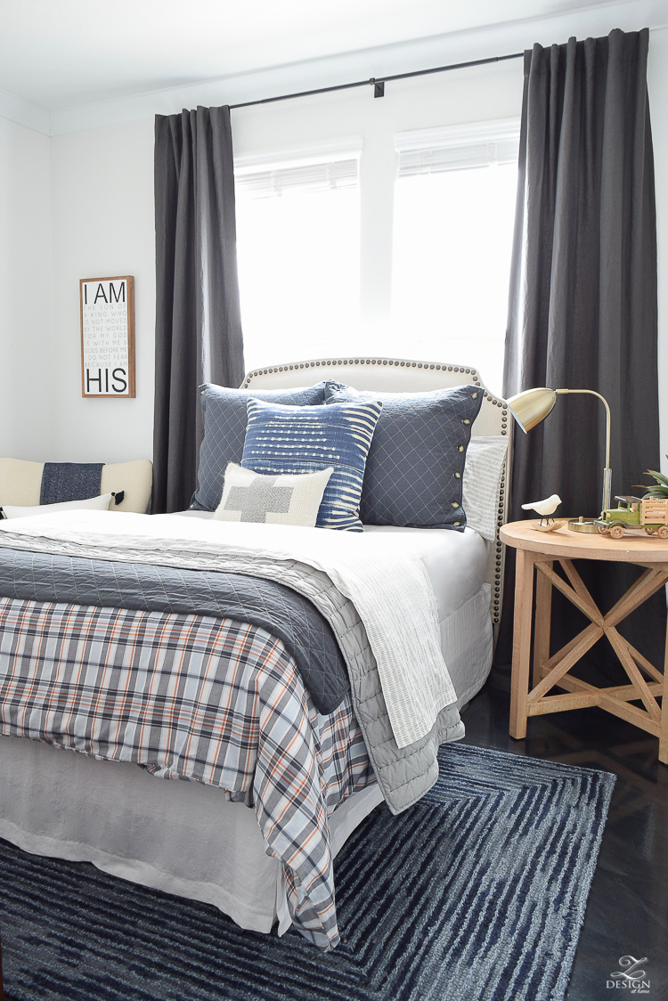 Boys Boho Chic Room Reveal + Tips for Layering Any Bed