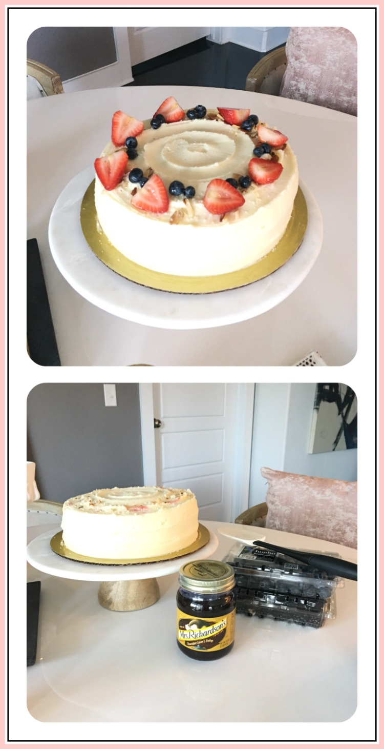 How to dress up a store bought cake for stress free holiday hosting and entertaining