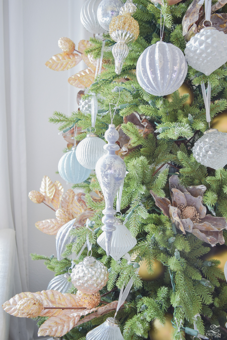 12 bloggers of Christmas with Balsam Hill - how to decorate a mixed metal tree