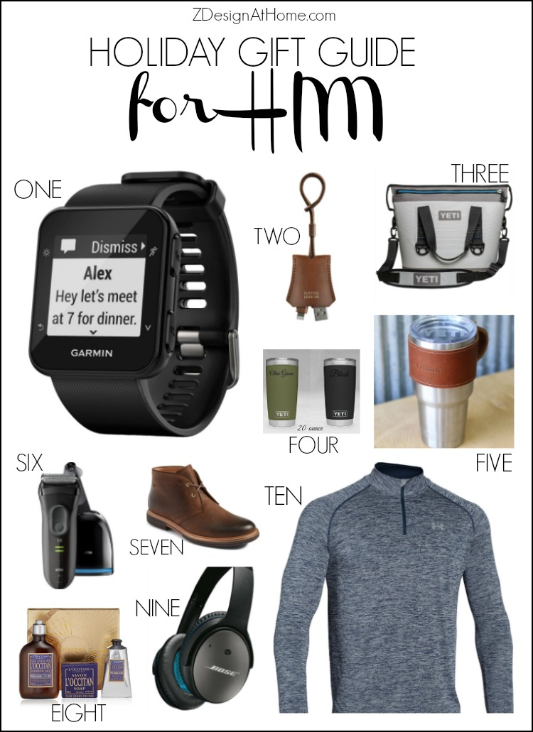 ZDesign At Home Gift Guide for Men from your Favorite Home Decor Bloggers
