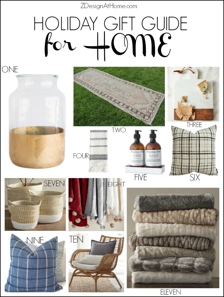 ZDesign At Home Holiday gift guide for the home decor lover - from your favorite home decor bloggers
