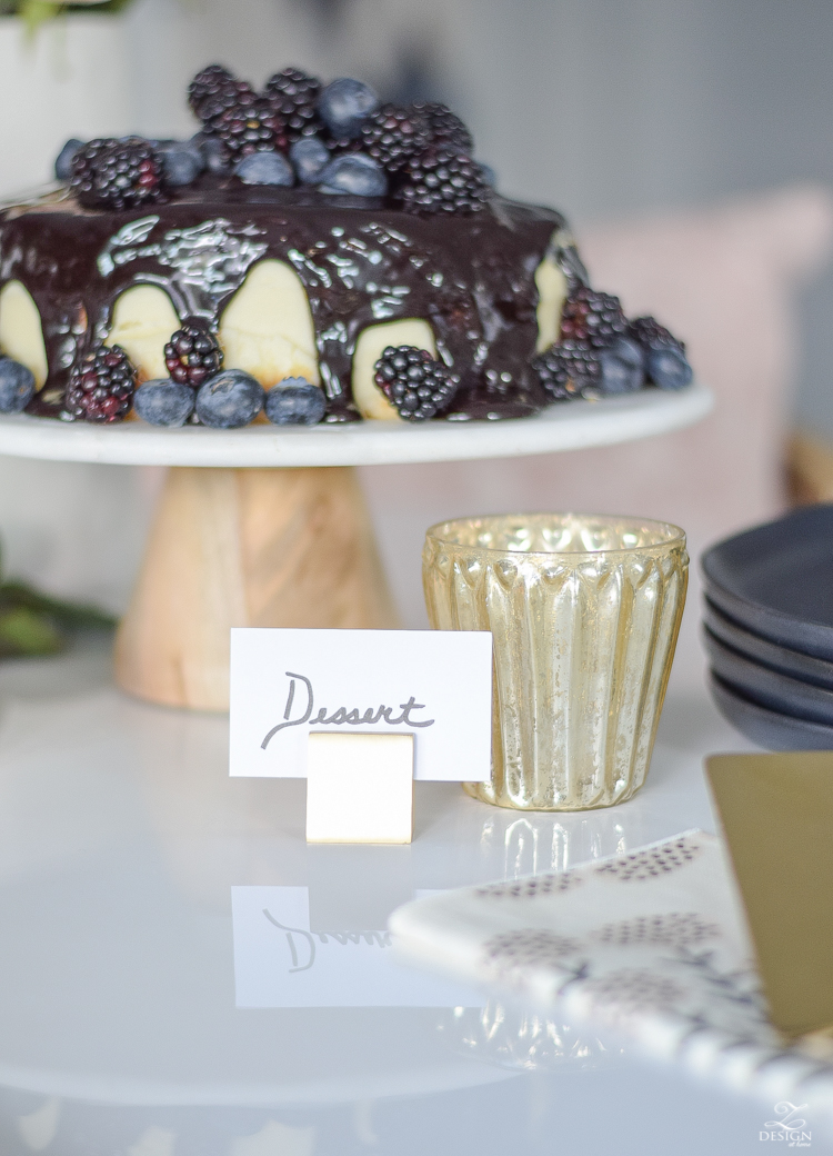 How to dress up a store bought cake and create a beautiful dessert station to swoon your guests