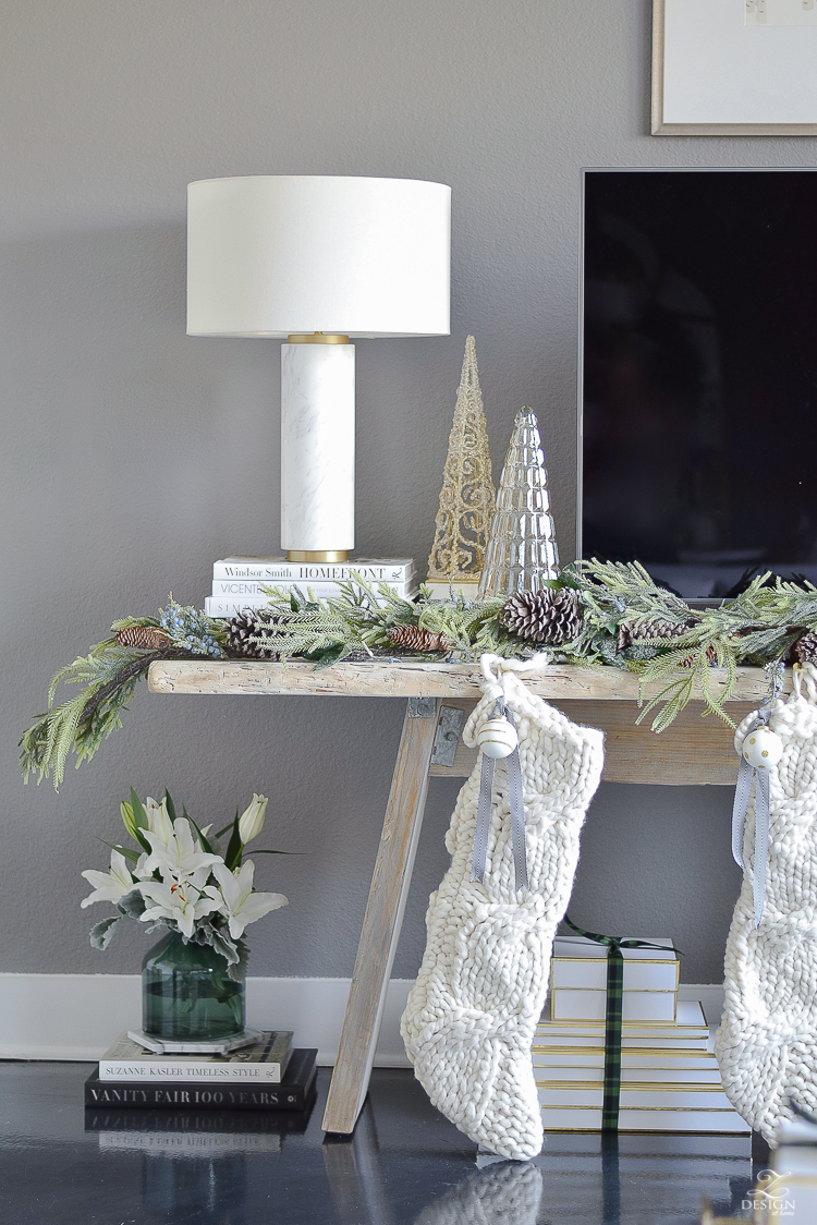 Christmas Living Room by ZDesign At Home - Christmas Tour - Boho Glam living room tour