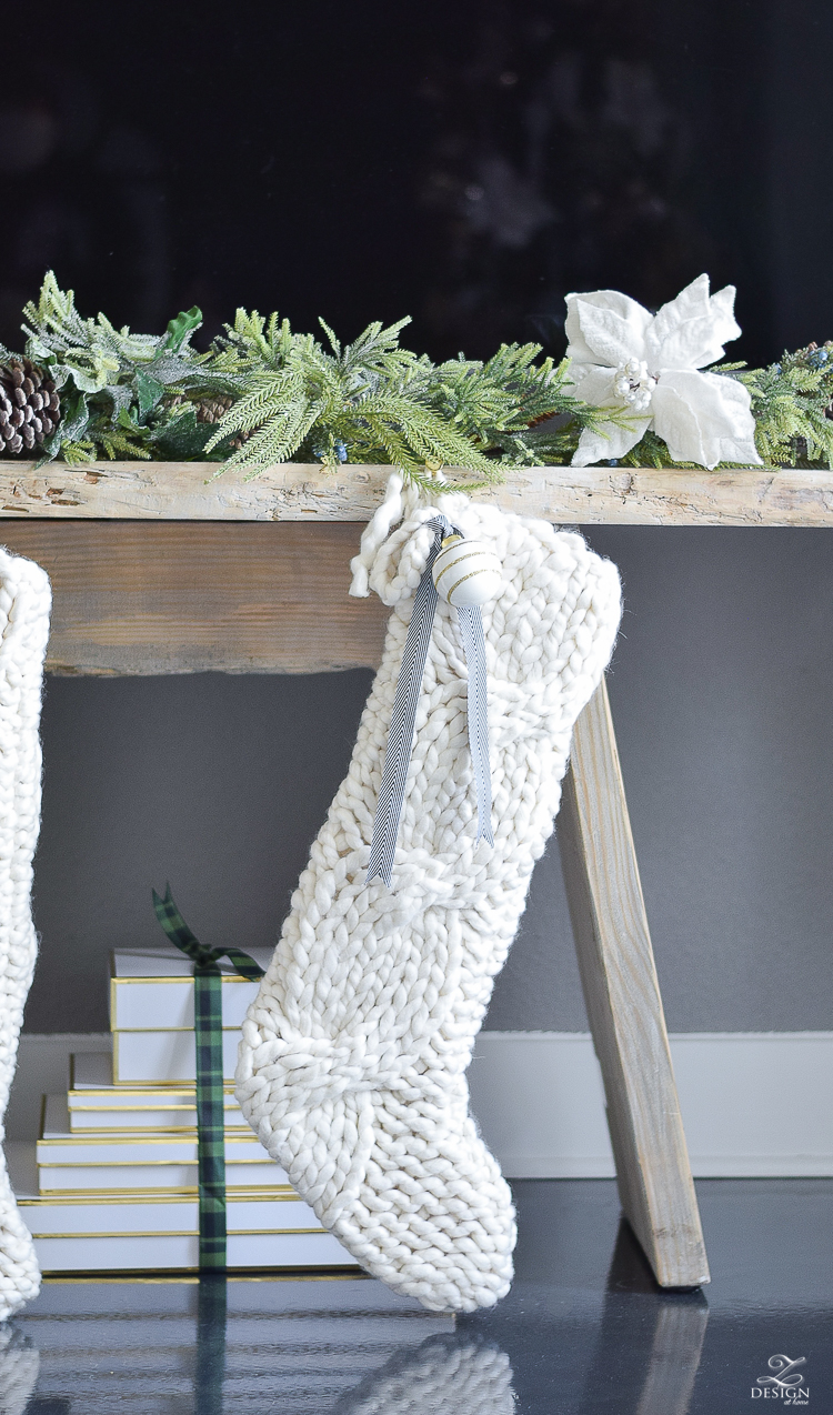 Oversized cable knit stocking