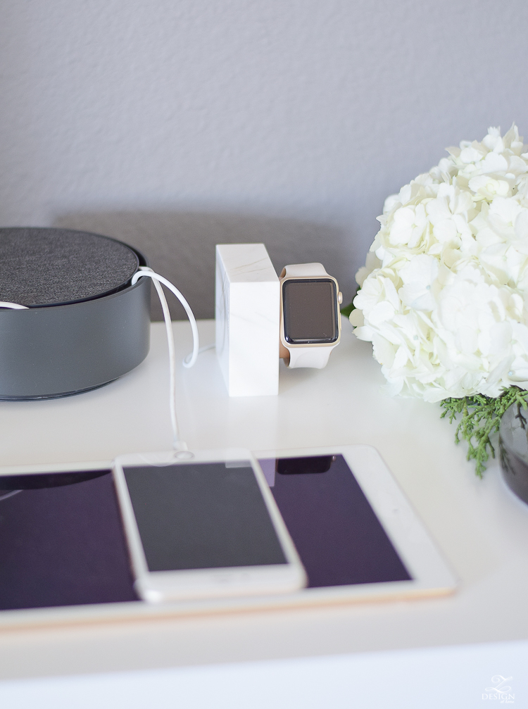 The best way to hide those messy phone cords (and the most beautiful apple watch charging station)
