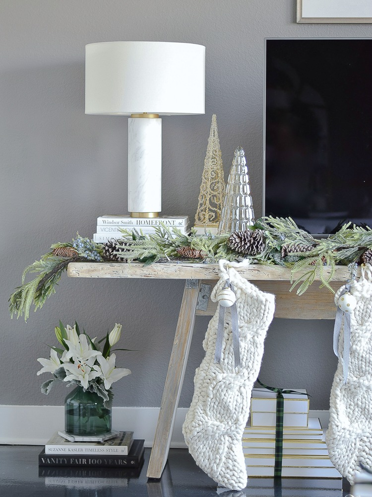 Glam Christmas Living Room Tour + Tips for Easy Holiday Decorating