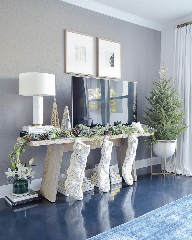 ZDesign At Home Christmas Living Room Tour - A boho chic Christmas tour