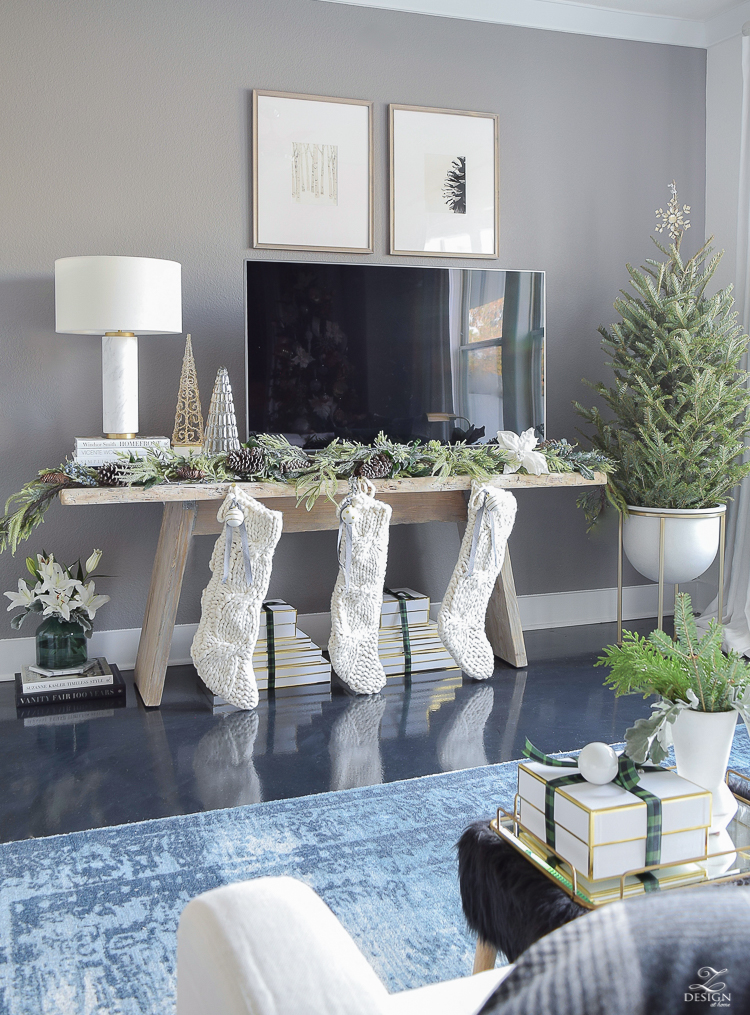 Boho glam Christmas living room tour