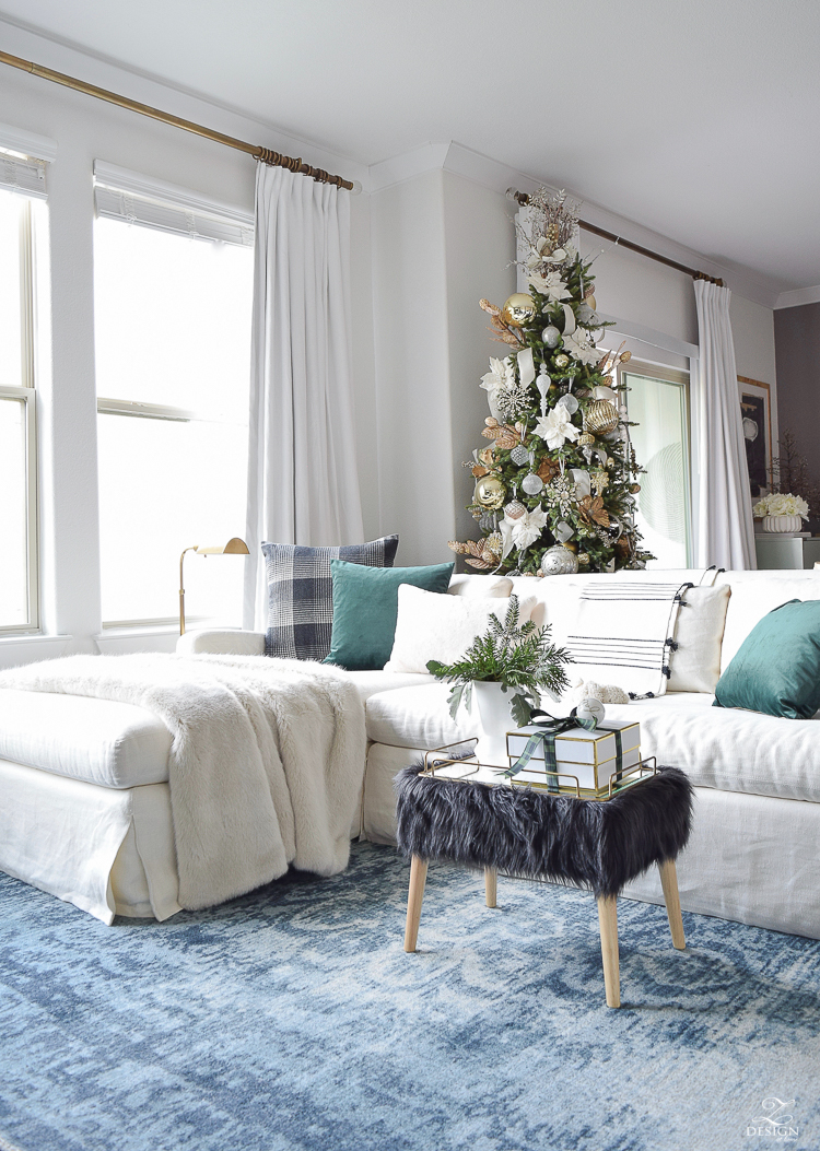 Modern Christmas Decor with ZDesign At Home - A Christmas Living Room Tour