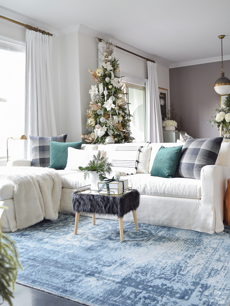 Boho Chic Living Room Christmas Tour - A Stroll Thru Life Holiday Tour