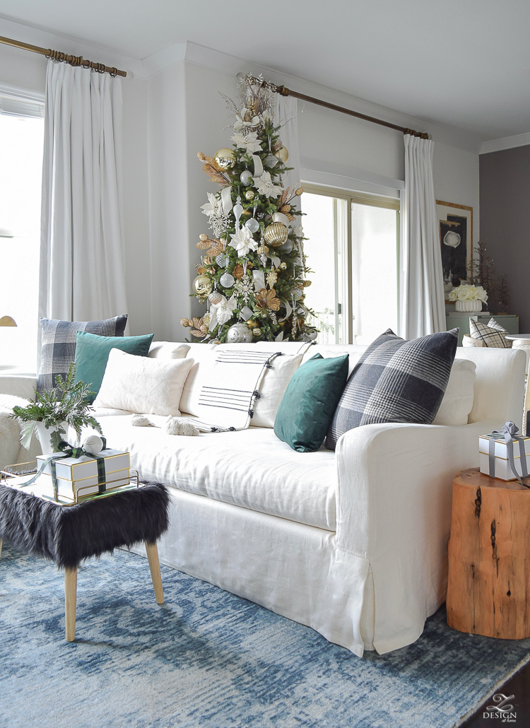 A Christmas Living Room Tour with ZDesign At Home - A Stroll Thru Life Christmas Tour