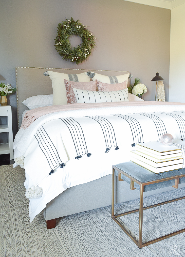 Transitional Modern Christmas Bedroom - ZDesign At Home Tour