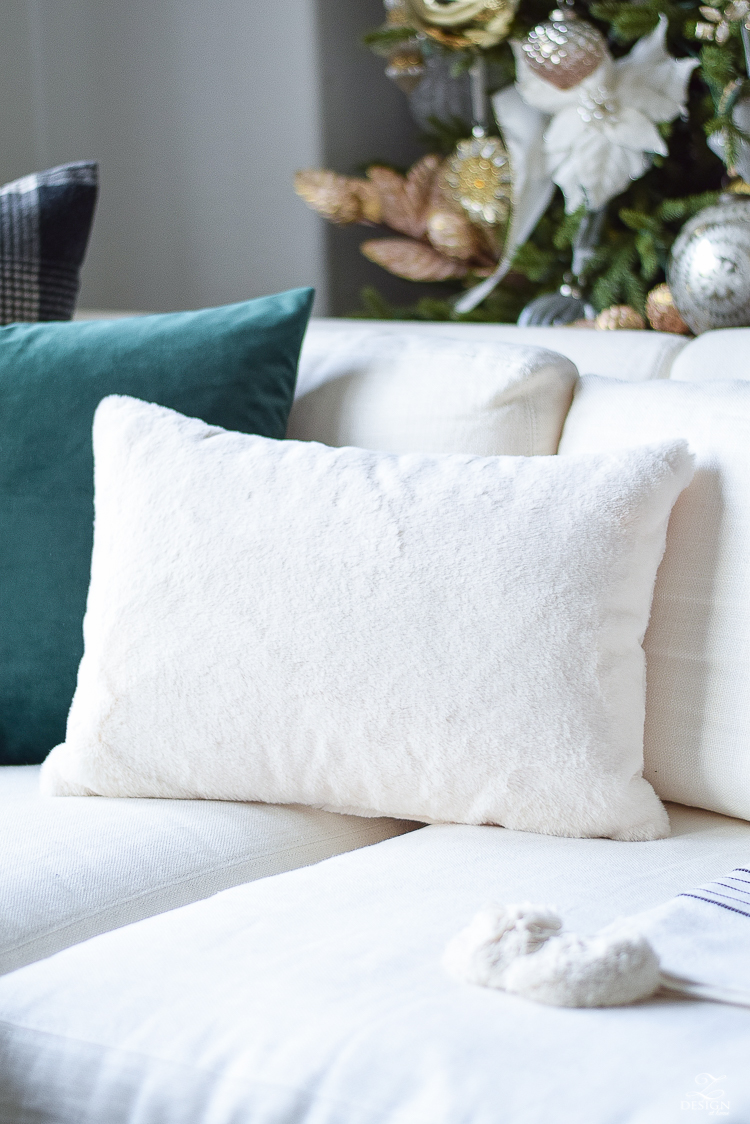 Christmas Pillow Collection in a boho glam living room