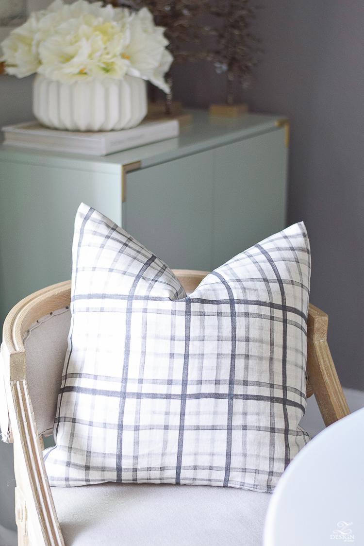 ZDesign At Home Christmas Home Tour - Black and white plaid pillows