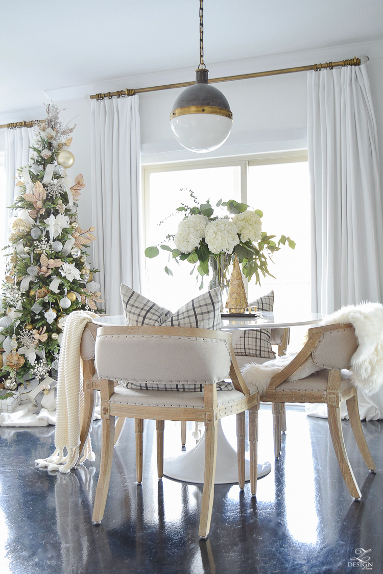 ZDesign At Home Christmas Dining Room & Bedroom Tour