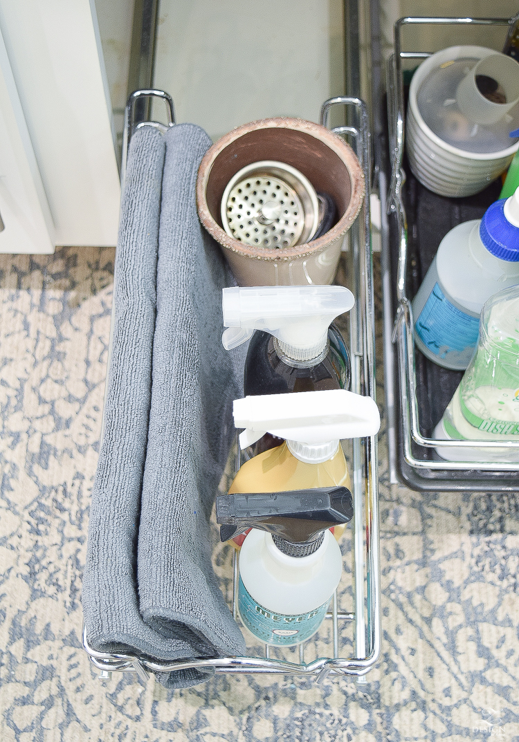 Tips and ideas to organize under the sink and in your kitchen