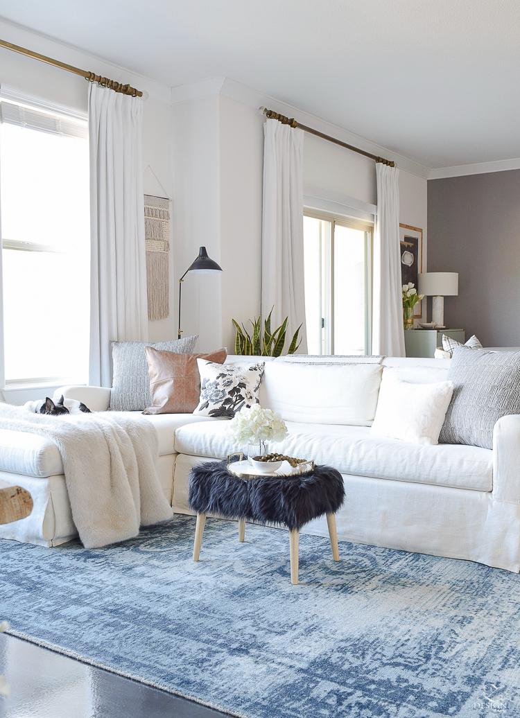 A Winter Home Tour on how to beat the winter decor blues