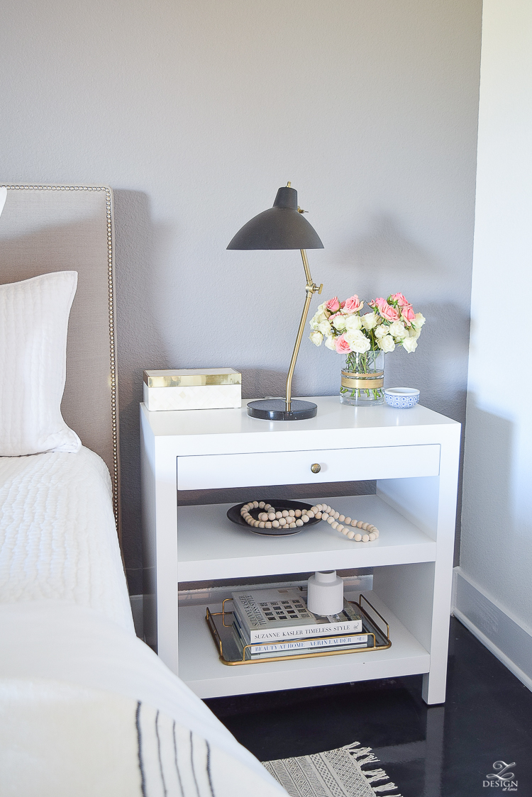 Tips to cozy your winter nest a bedroom tour zdesign for Side table decor bedroom