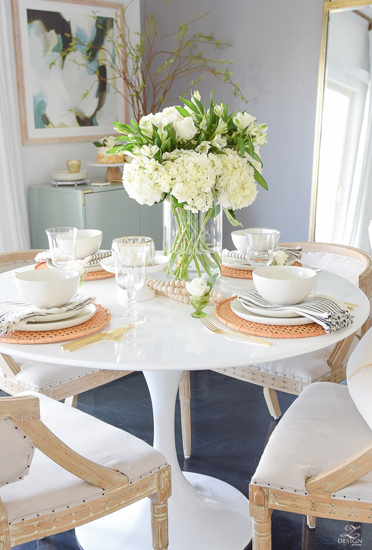 Simple Easter Entertaining Ideas - Tablescape
