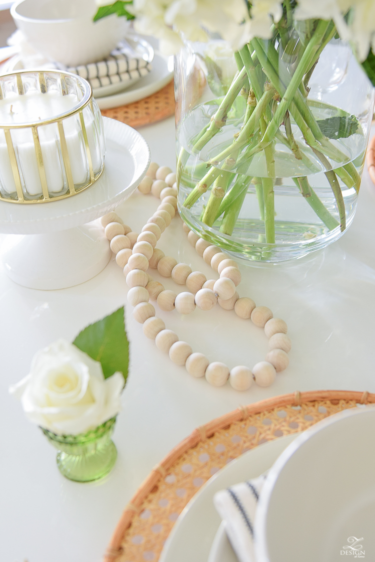 Modern boho glam vintage vibe table scape decor