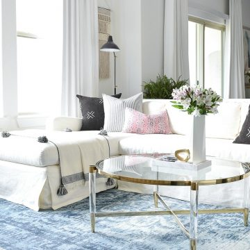 Coffee Table Measuring Guide + The best brass & Lucite coffee tables