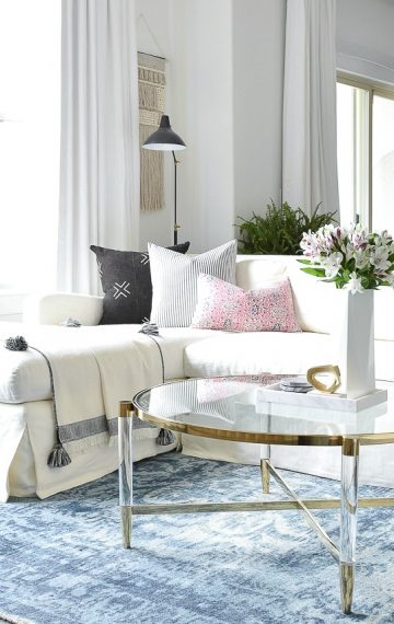 Gentil How To Choose The Right Coffee Table For Your Space + A Brass U0026 Lucite Round