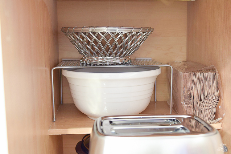 Stackable cabinet riser that helps create space inside your cabinets