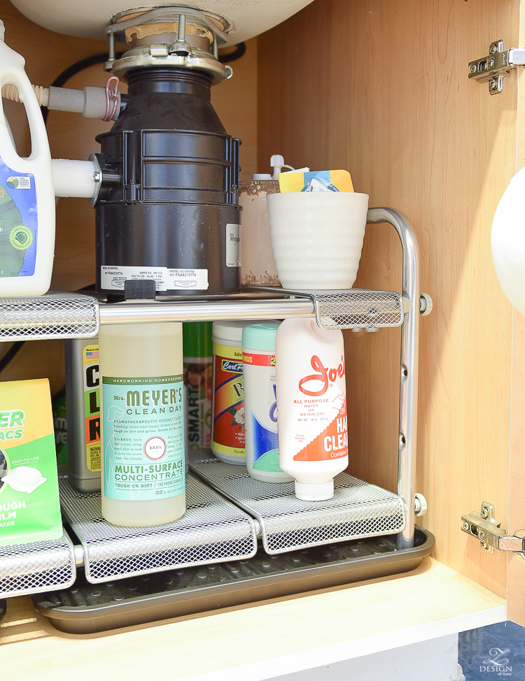 Under the sink expandable organizer plus drip pan