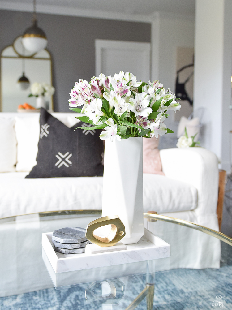 Decked & Styled Spring Tour - Spring living room & dining room