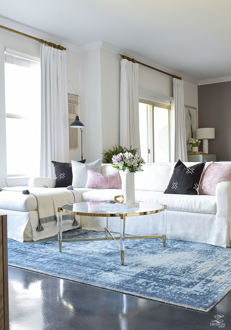 How to choose the right coffee table for your space + the best brass and lucite table round up