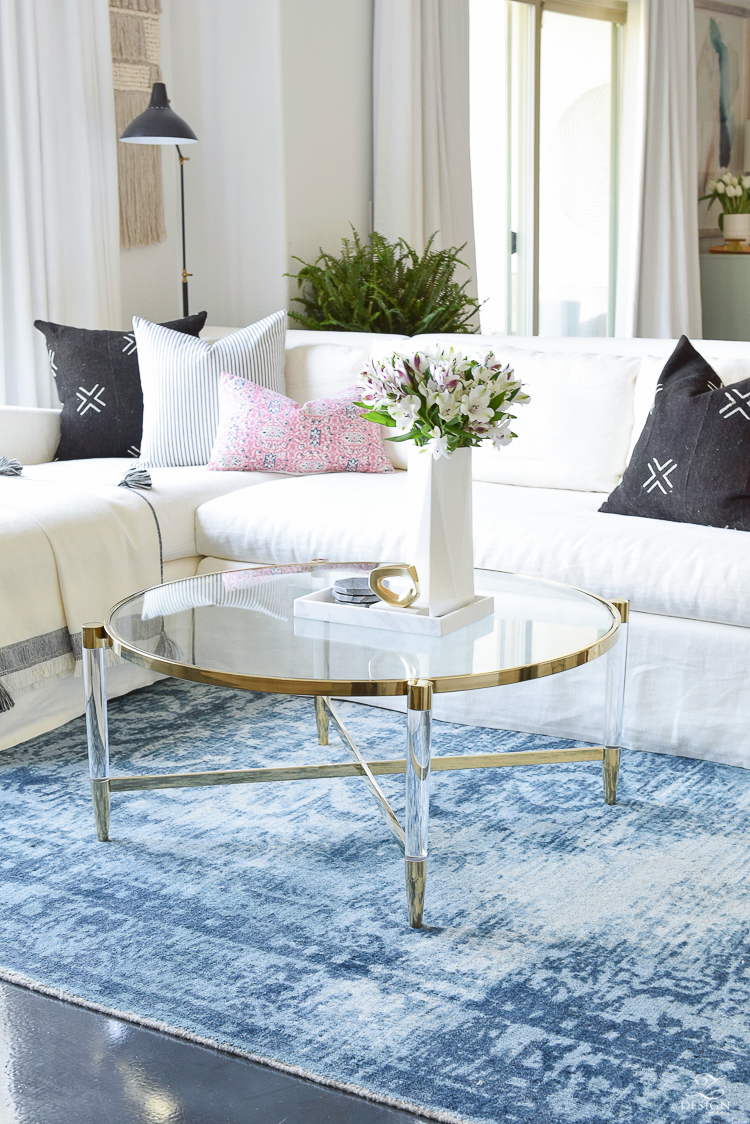 Coffee Table Measurement Guide + A Brass And Lucite Round Up