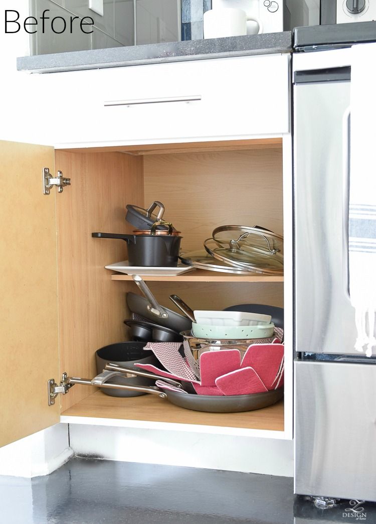 Before - practical solutions for getting and staying organized in the kitchen