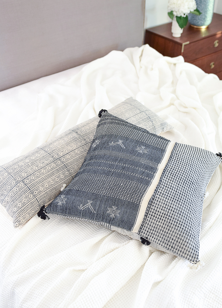 Boho pillows for the One Room challenge bedroom - ZDesign At Home