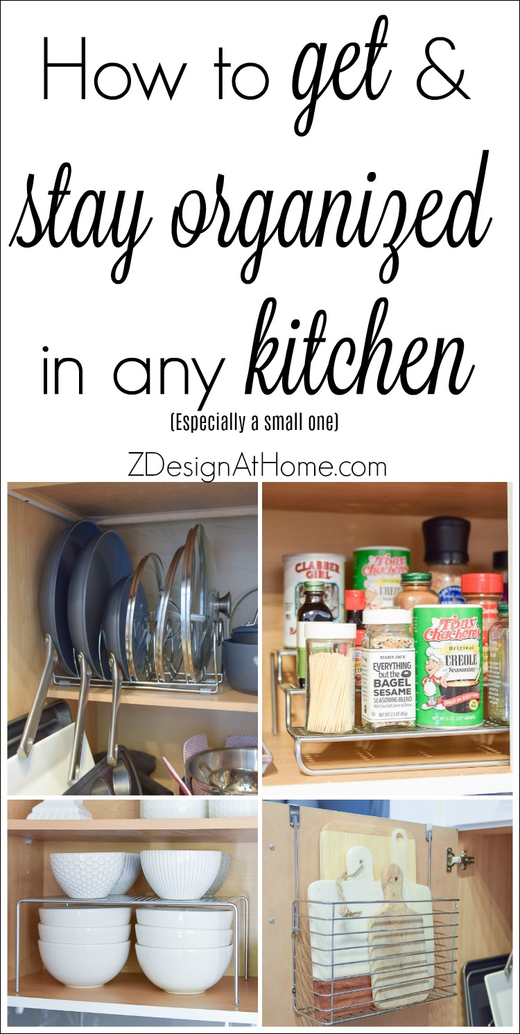 How to get and stay organized in any kitchen (especially a small one!)