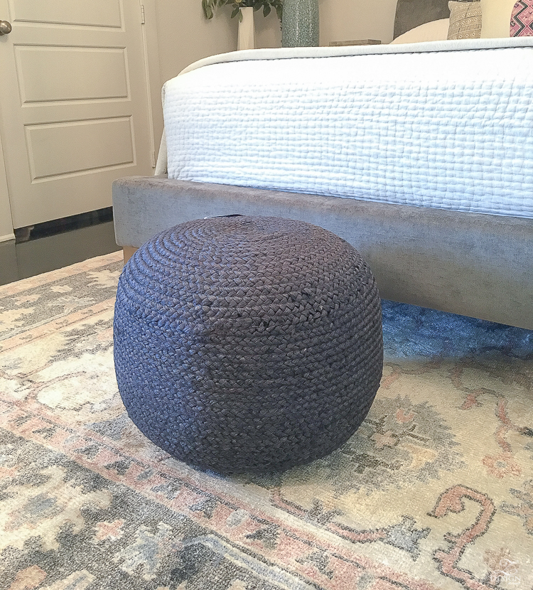 blue just pouf - one room challenge, week 4 ZDesign At Home