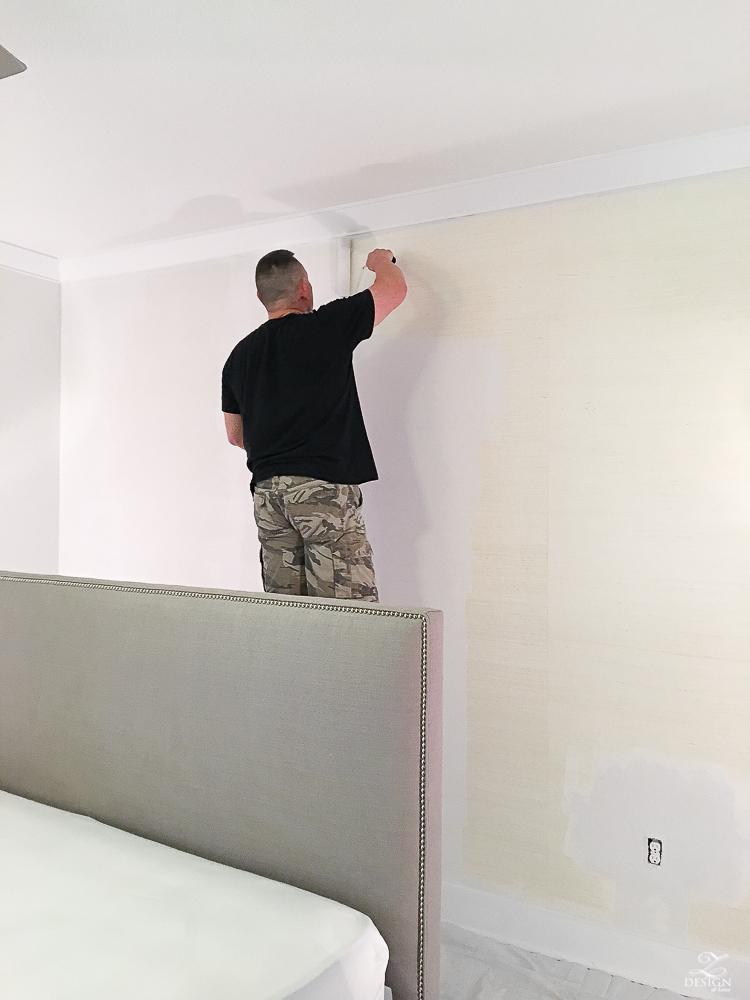 Painting over grasscloth