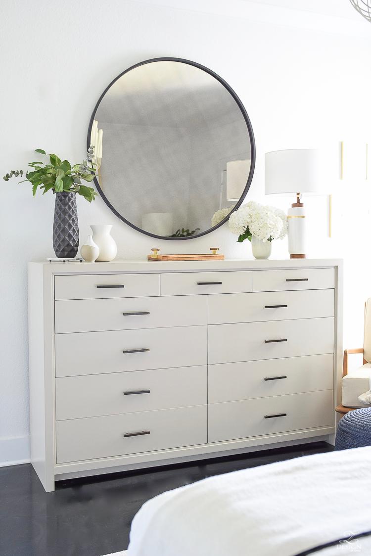 One Room Challenge - ZDesign At Home Master Bedroom Reveal - Dresser side of room