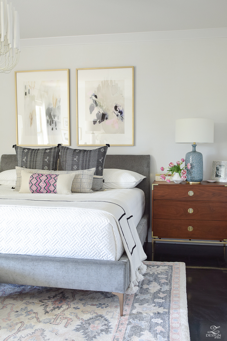 One Room Challenge Master Bedroom Reveal - ZDesign At Home - Transitional Modern Bedroom