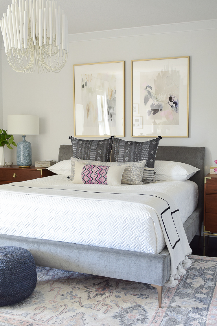 One Room Challenge - Boho Glam Transitional Modern Master Bedroom Reveal - ZDesign At Home
