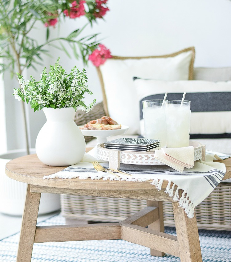 Styled + Set Entertaining Tour – Simple Patio Entertaining For Two