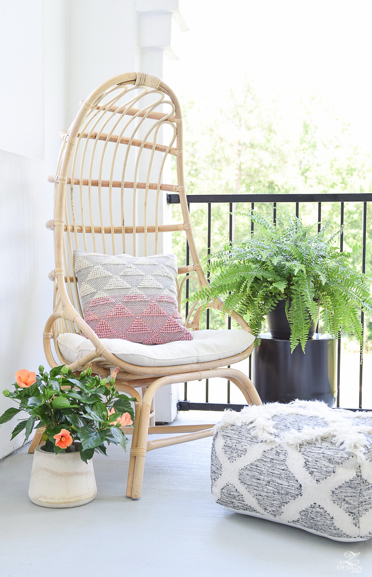 Summer Patio Tour - Boho Chic Rattan Chair