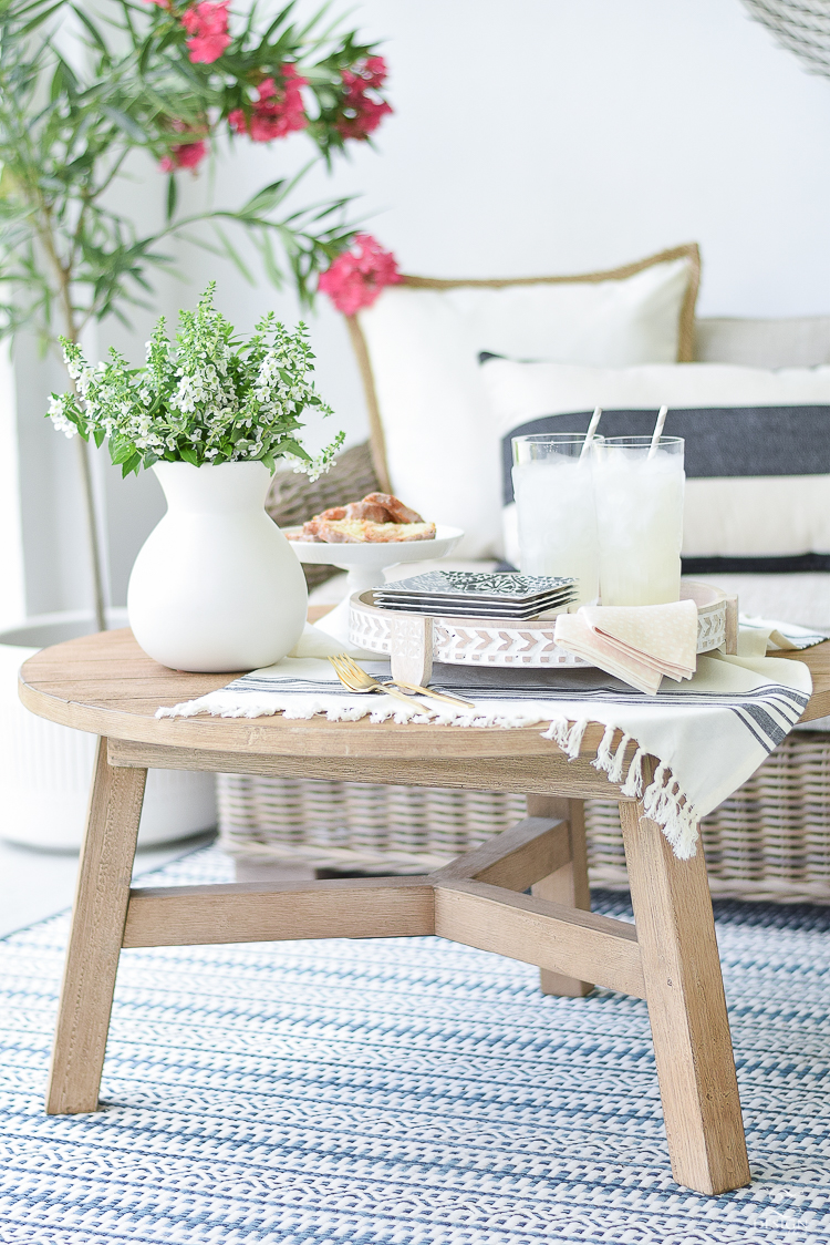 Styled + Set Entertaining Tour - summer patio entertaining for two
