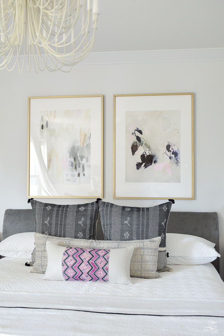 One Room Challenge Master Bedroom Reveal - Modern Statement Art - Zdesign At Home