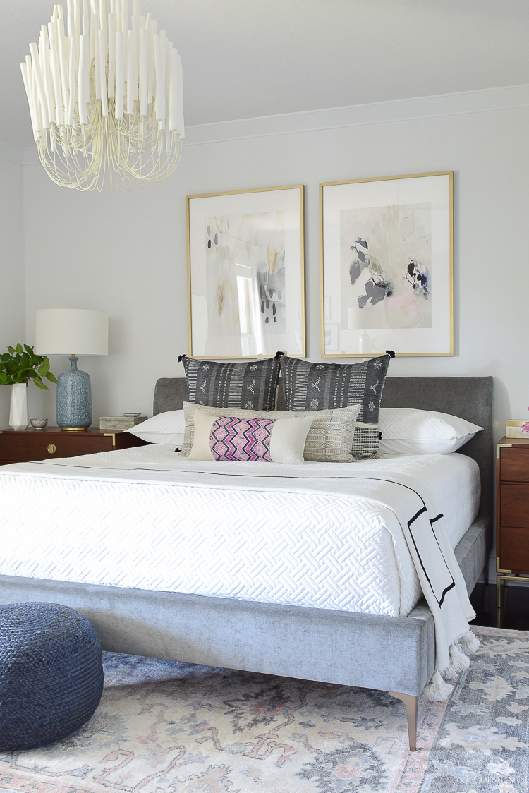 One Room Challenge Boho Glam Master Bedroom Reveal - ZDesign At Home