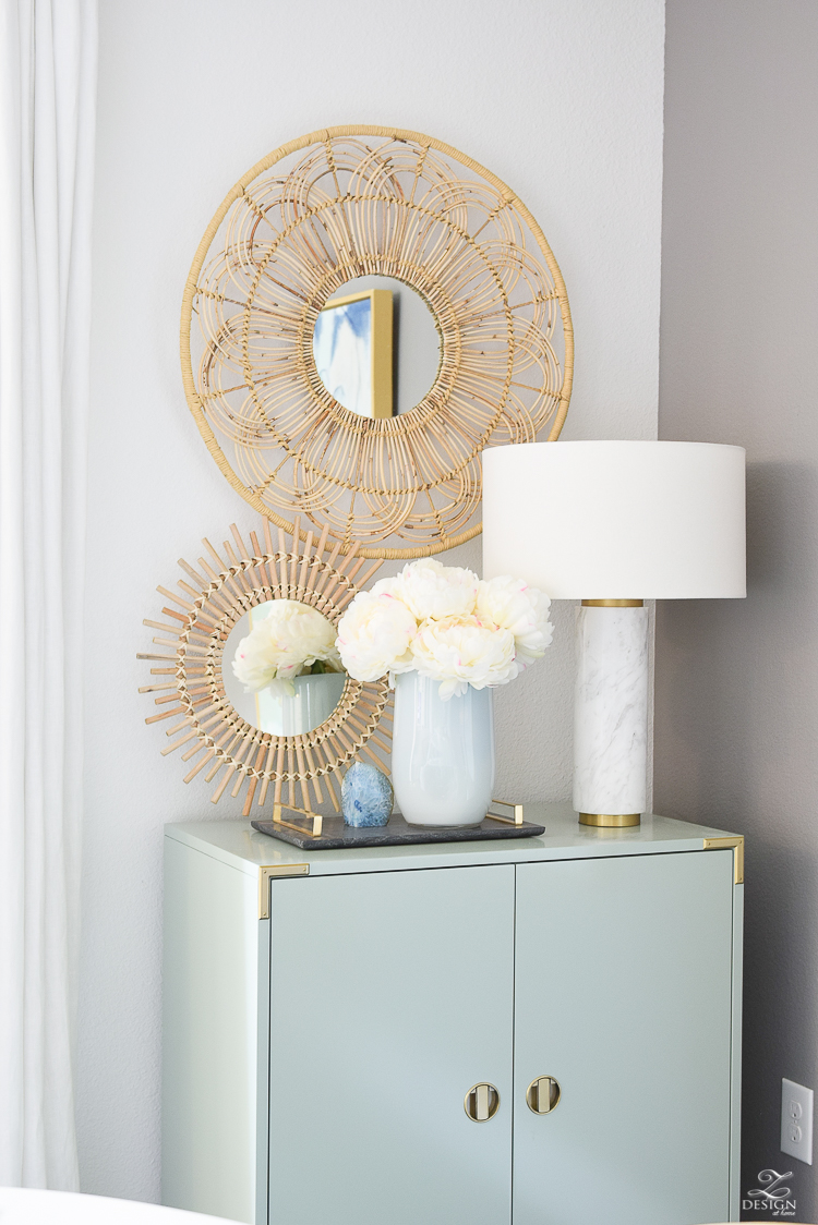 Rattan mirrors - this year's hottest material trend!