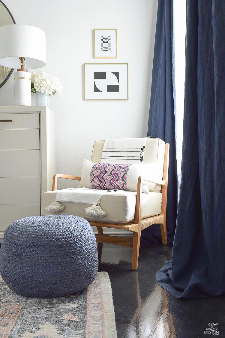 Beautiful boho chair - One Room Challenge Week 5