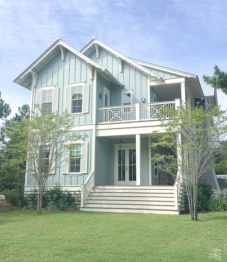 exterior of a coastal home in 30A florida - you can rent this house!