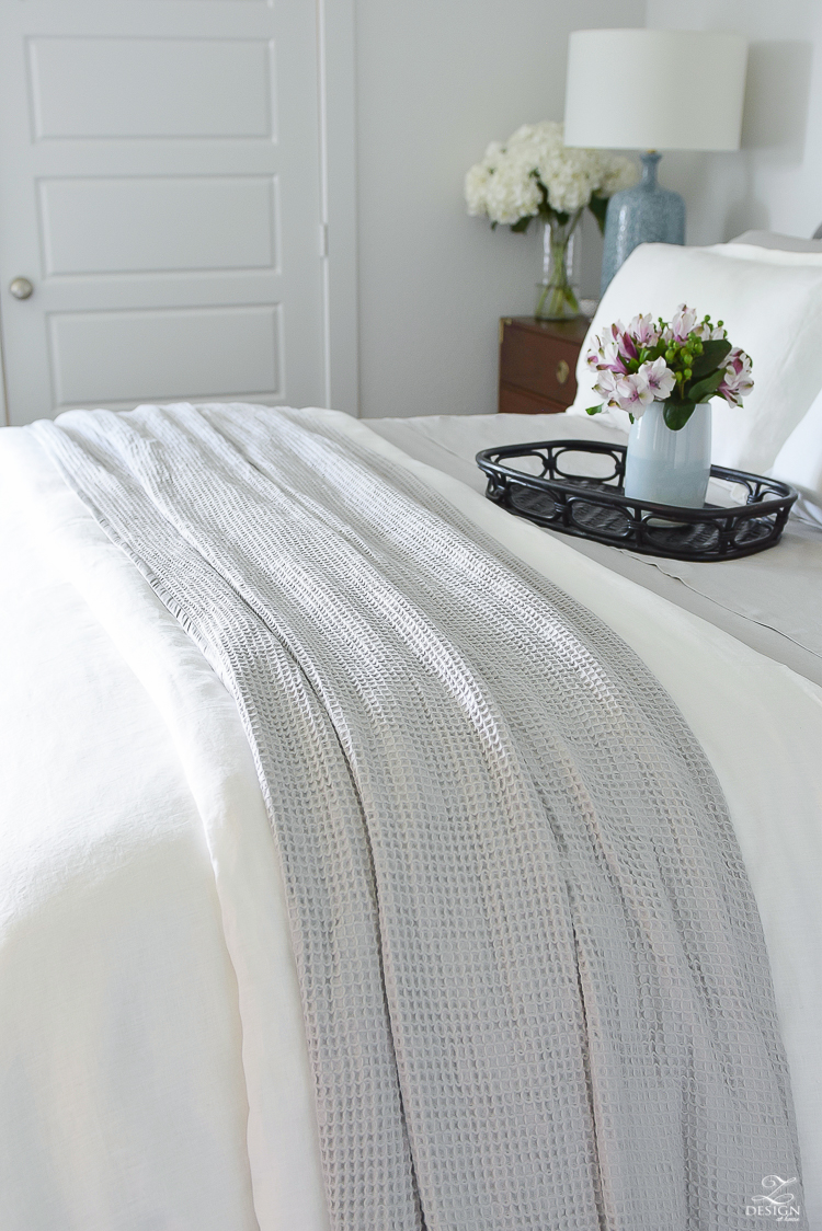The best organic bedding - line and cotton waffle blanket that you can't live without