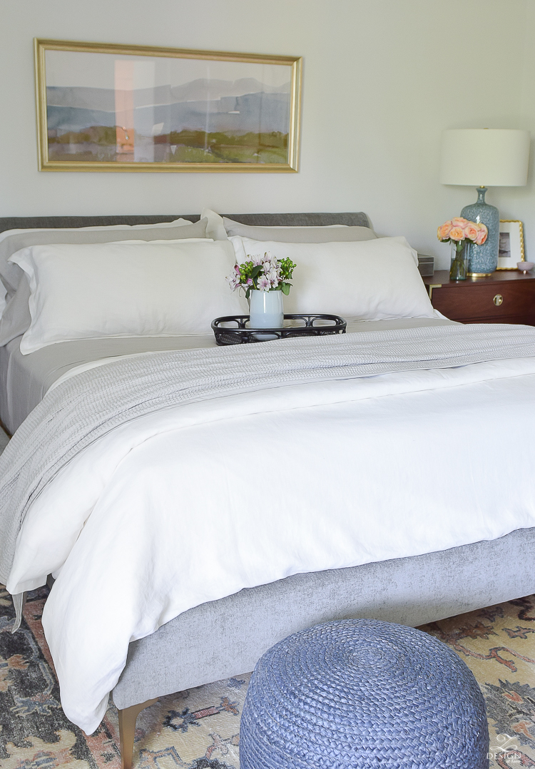 The best organic linen bedding you can't live without this summer + a review