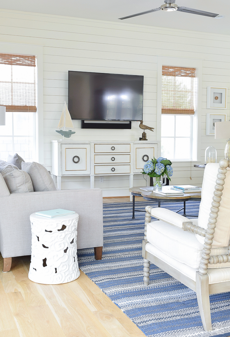 Beautiful Coastal Inspired Living Room in 30-A Florida